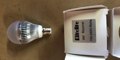 Elitelite LED 9 watt Bayonet